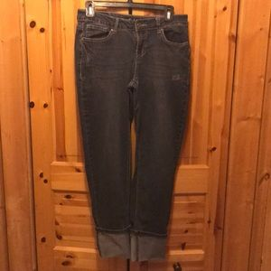 Earl Jeans, cropped cuffed ankle style